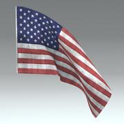 미국 국기 3d model