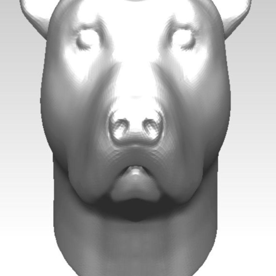 Tazı yarışı köpek kafası royalty-free 3d model - Preview no. 4