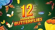12个动画蝴蝶包 3d model