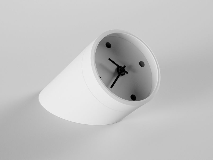 Desk Clock royalty-free 3d model - Preview no. 1