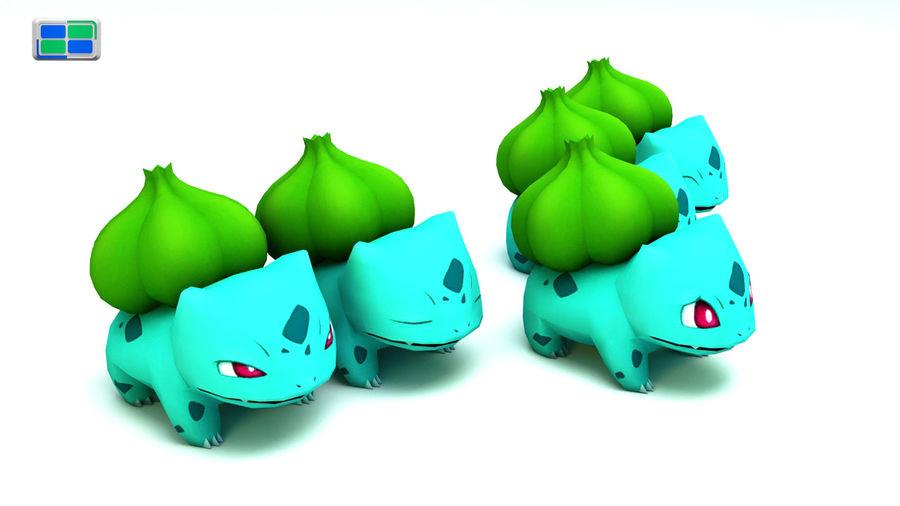 Bulbasaur royalty-free 3d model - Preview no. 3