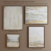 The collection of contemporary paintings (set-3) 3d model
