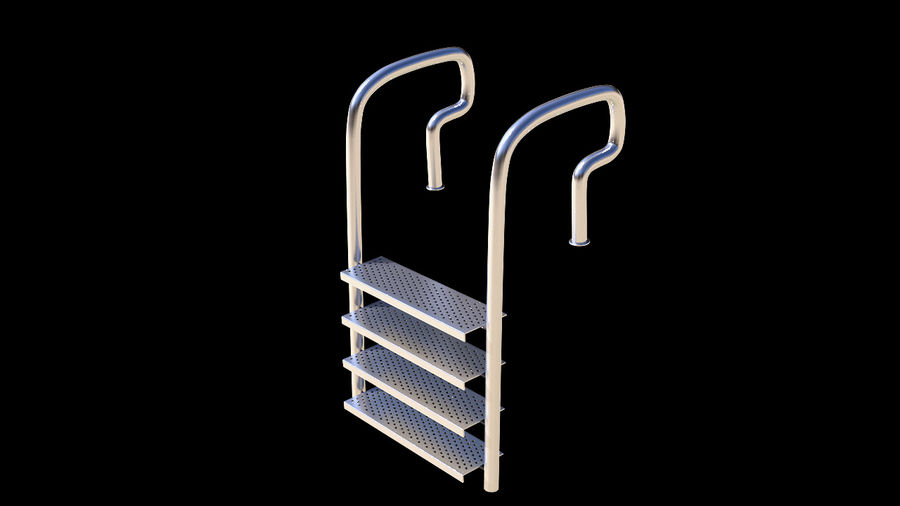 Pool Ladder royalty-free 3d model - Preview no. 2
