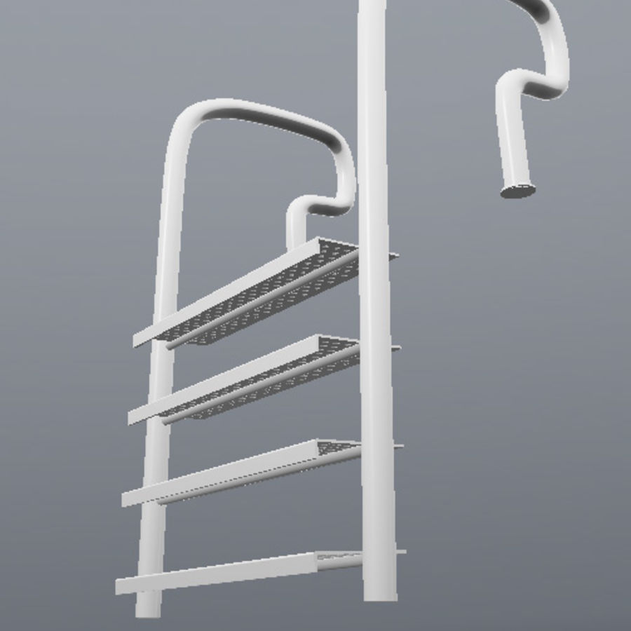 Pool Ladder royalty-free 3d model - Preview no. 3