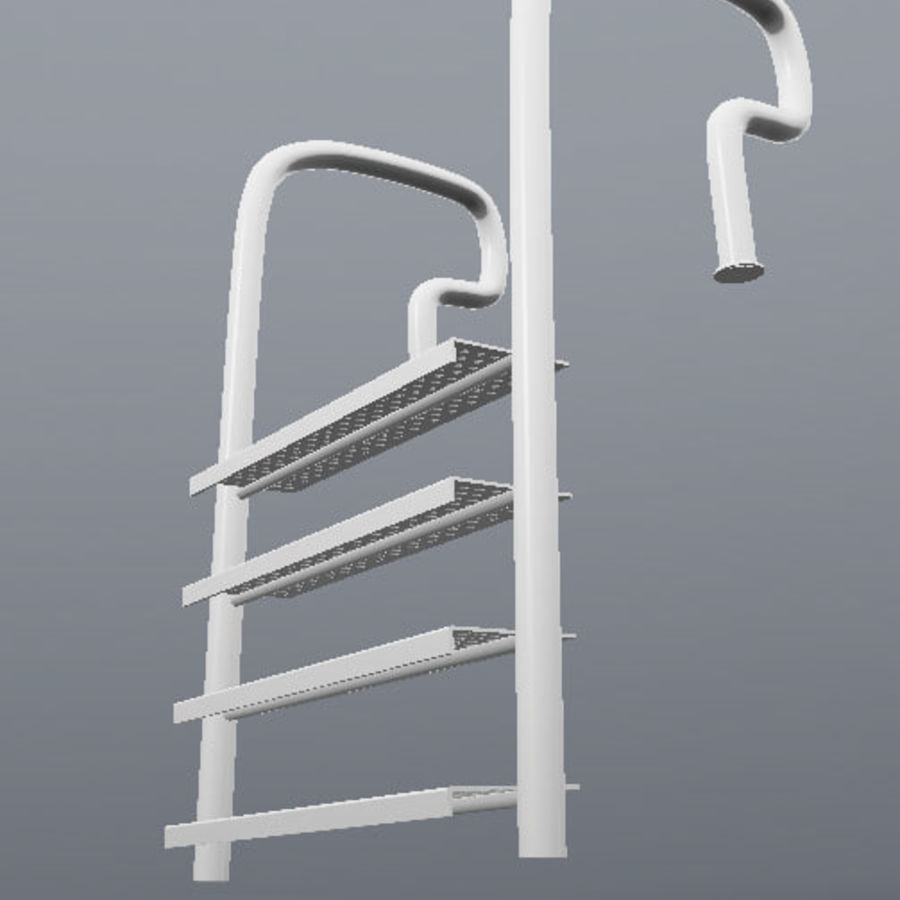 Escalera de piscina royalty-free modelo 3d - Preview no. 3