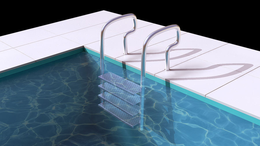 Pool Ladder royalty-free 3d model - Preview no. 1