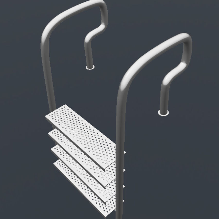 Pool Ladder royalty-free 3d model - Preview no. 4