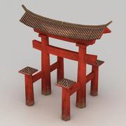 Lowpoly Torii Gate 3d model