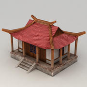 Lowpoly Chinese Building 3 3d model