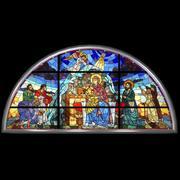 彩色玻璃窗 3d model