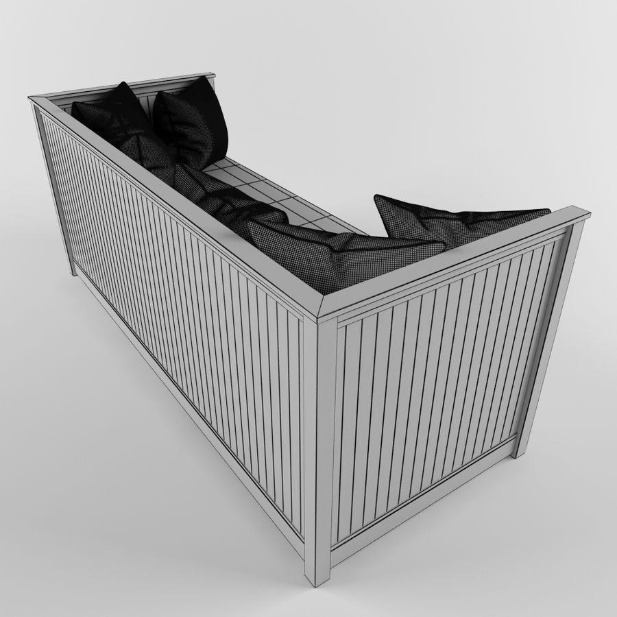 沙发床IKEA HEMNES royalty-free 3d model - Preview no. 9