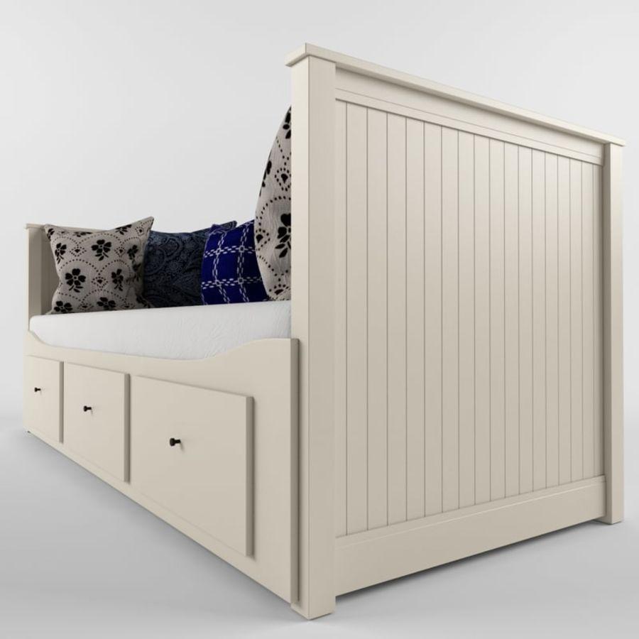 沙发床IKEA HEMNES royalty-free 3d model - Preview no. 3