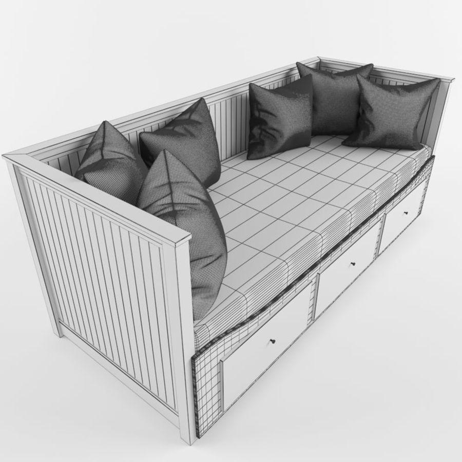 沙发床IKEA HEMNES royalty-free 3d model - Preview no. 10