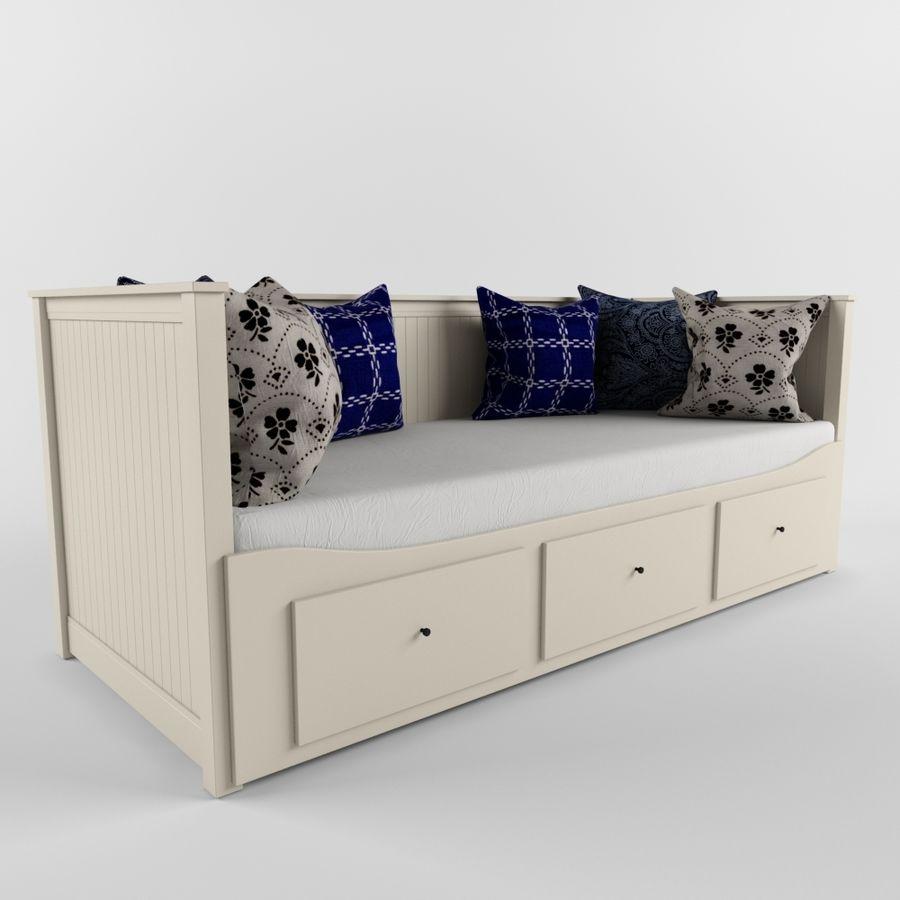 沙发床IKEA HEMNES royalty-free 3d model - Preview no. 1