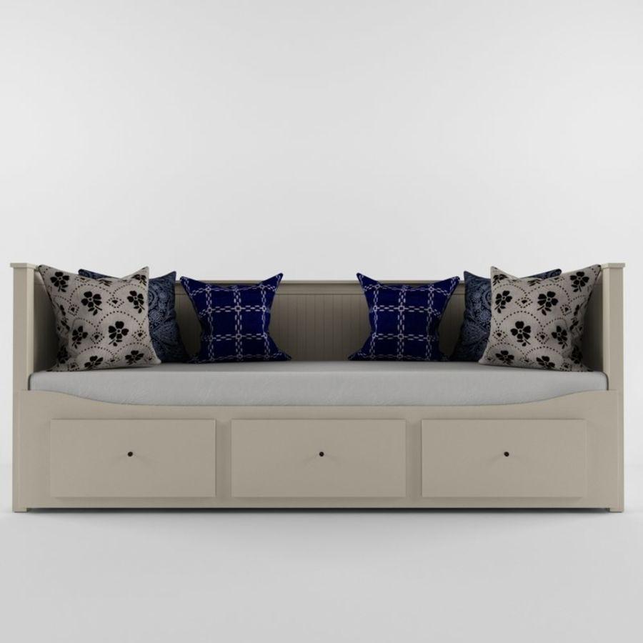 沙发床IKEA HEMNES royalty-free 3d model - Preview no. 2