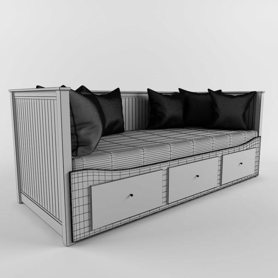 沙发床IKEA HEMNES royalty-free 3d model - Preview no. 8