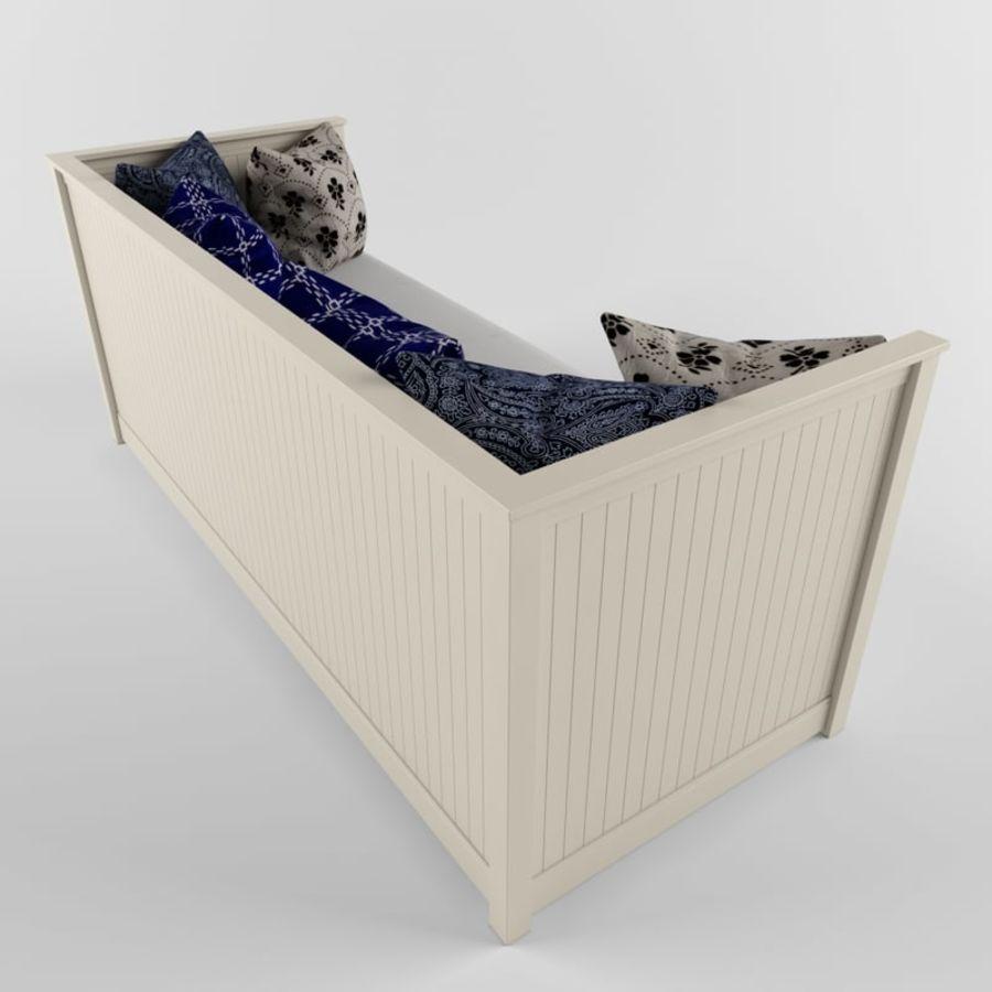 沙发床IKEA HEMNES royalty-free 3d model - Preview no. 5