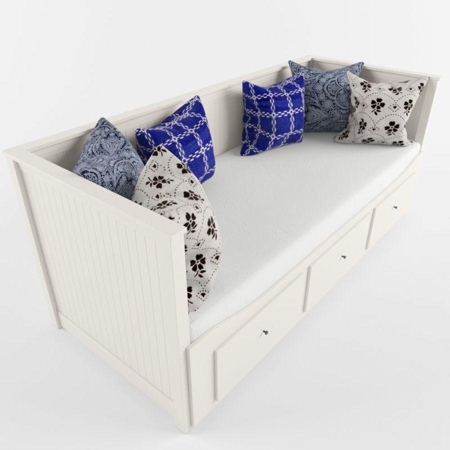 沙发床IKEA HEMNES royalty-free 3d model - Preview no. 6