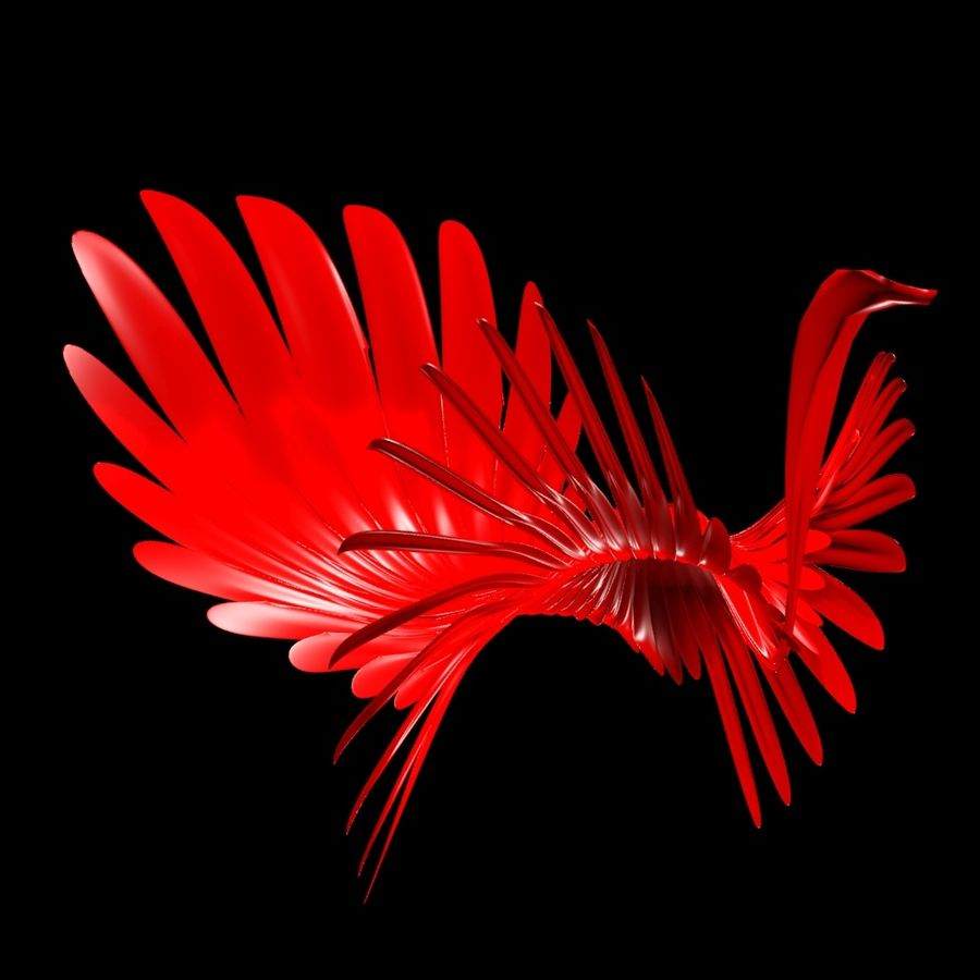 Abstract peacock royalty-free 3d model - Preview no. 2