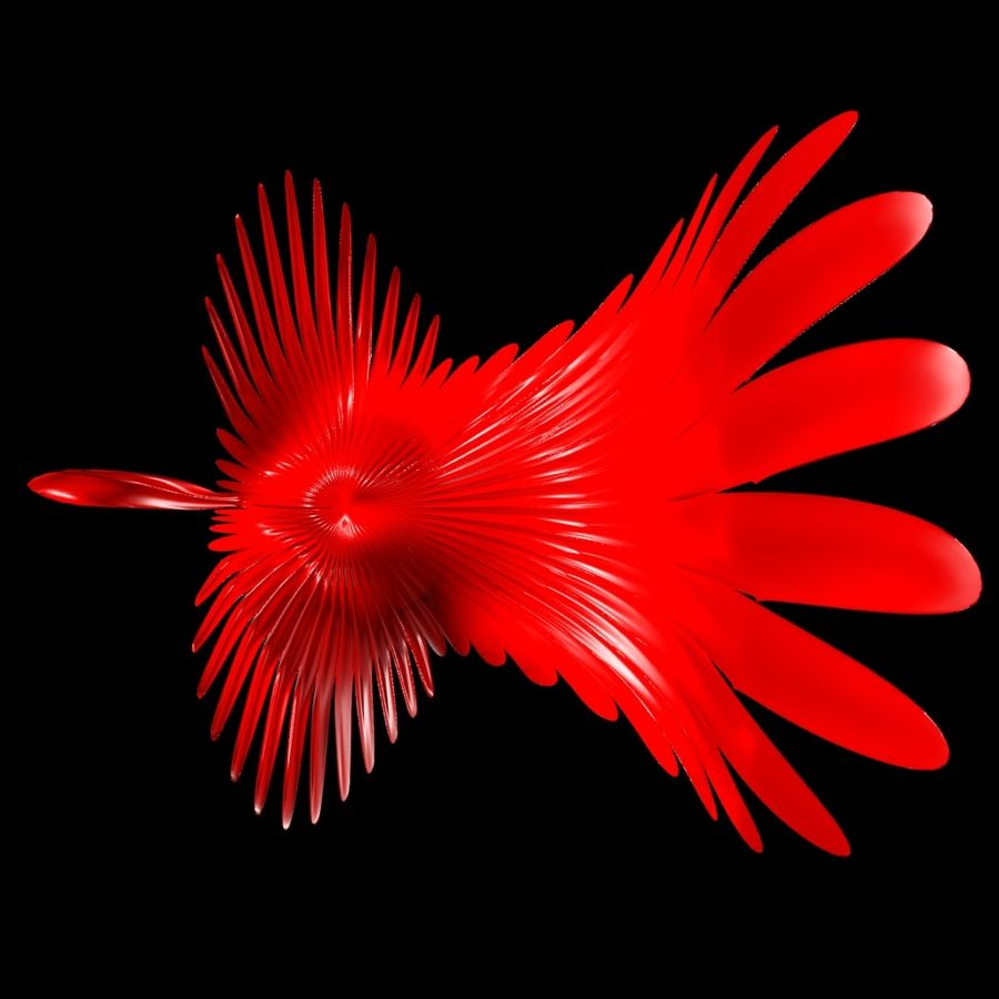 Abstract peacock royalty-free 3d model - Preview no. 6