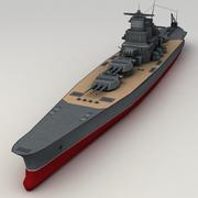 Battleship Yamato 3d model