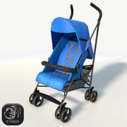 Cochecito de bebe bajo poli modelo 3d
