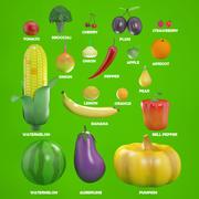 Obst und Gemüse 3d model