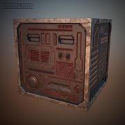 Caixa de aço 3d model