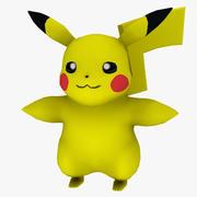 Pokemon Low Poly Pikachu 3d model