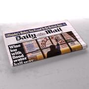 Ежедневная почта сложенная газета 3d model