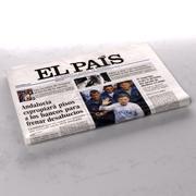 Periódico doblado El País modelo 3d