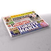 Periódico doblado Hurriyet modelo 3d