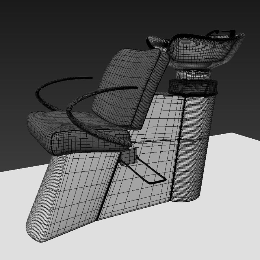 Fauteuil et évier royalty-free 3d model - Preview no. 4