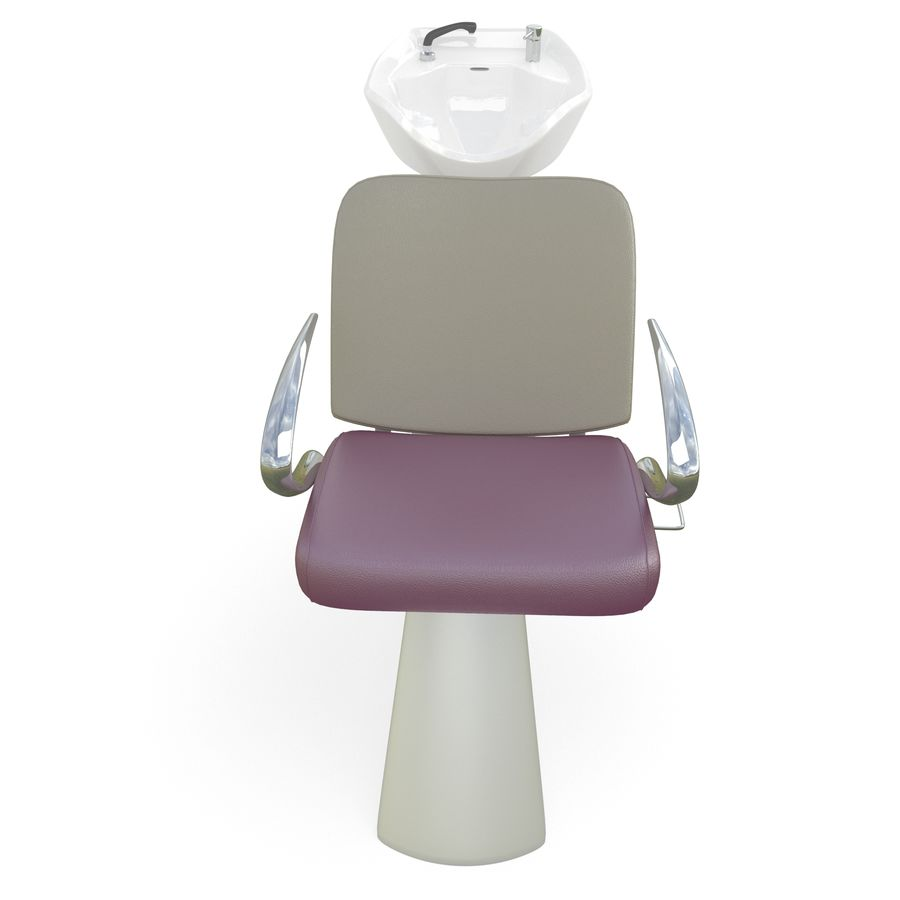 Fauteuil et évier royalty-free 3d model - Preview no. 2