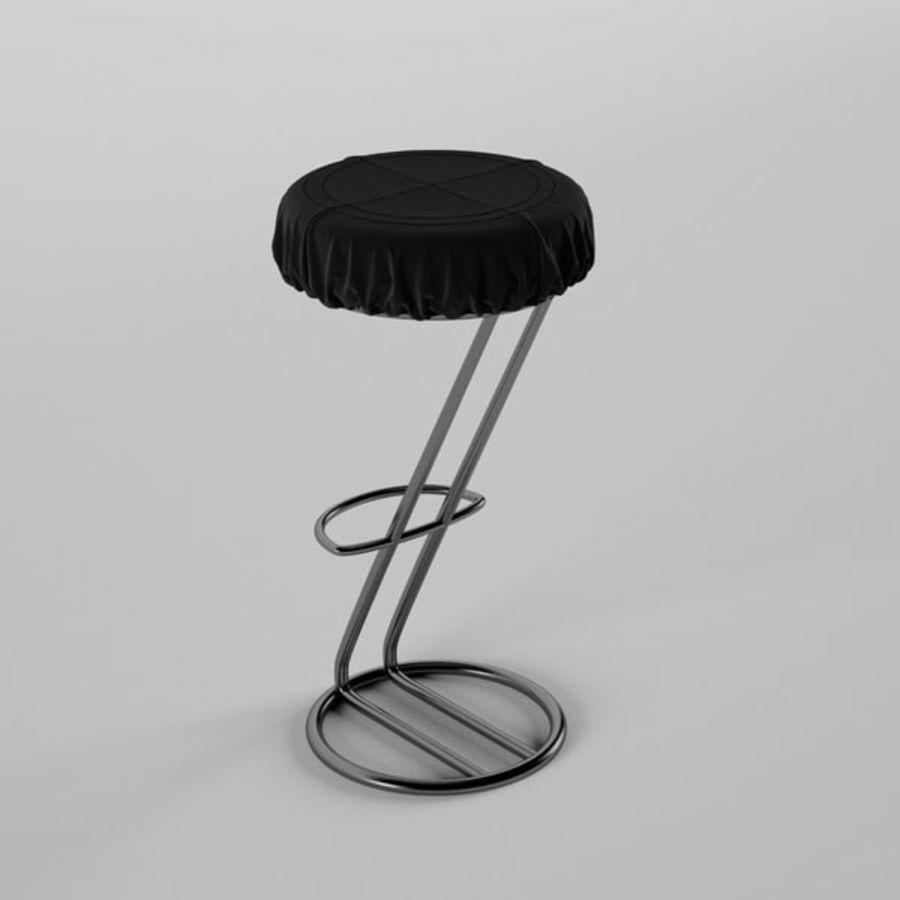 Bar Chair royalty-free 3d model - Preview no. 2