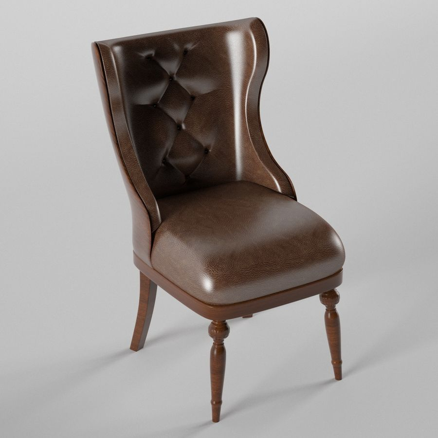 Classic chair royalty-free 3d model - Preview no. 1