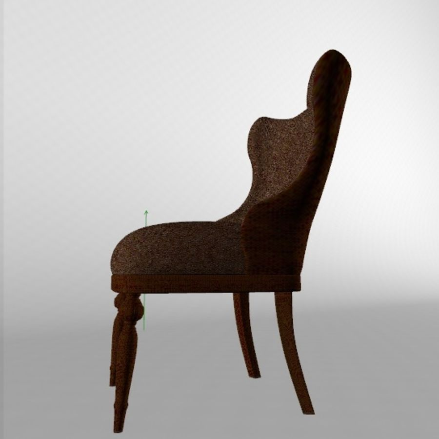 Classic chair royalty-free 3d model - Preview no. 5