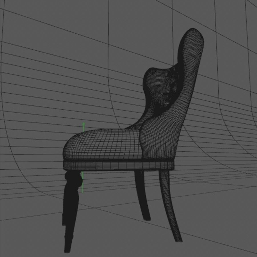 Classic chair royalty-free 3d model - Preview no. 4