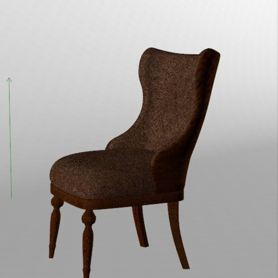 Classic chair royalty-free 3d model - Preview no. 2