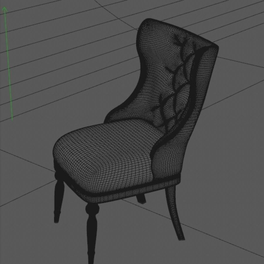 Classic chair royalty-free 3d model - Preview no. 3