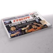L'Equipe gefaltete Zeitung 3d model