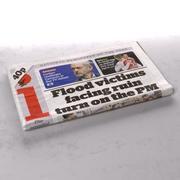 Niezależna składana gazeta 3d model
