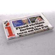 El periódico doblado independiente modelo 3d