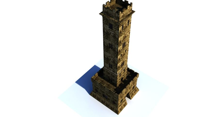 Torre do Castelo royalty-free 3d model - Preview no. 7