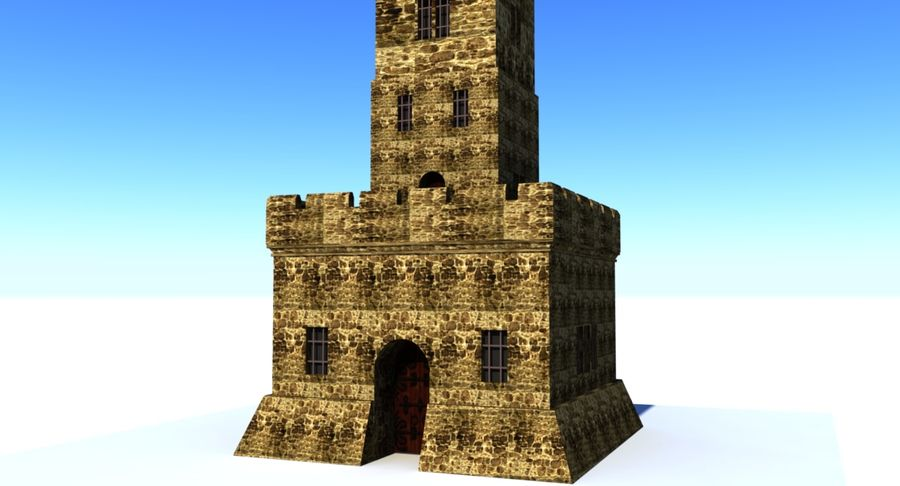 Torre do Castelo royalty-free 3d model - Preview no. 3