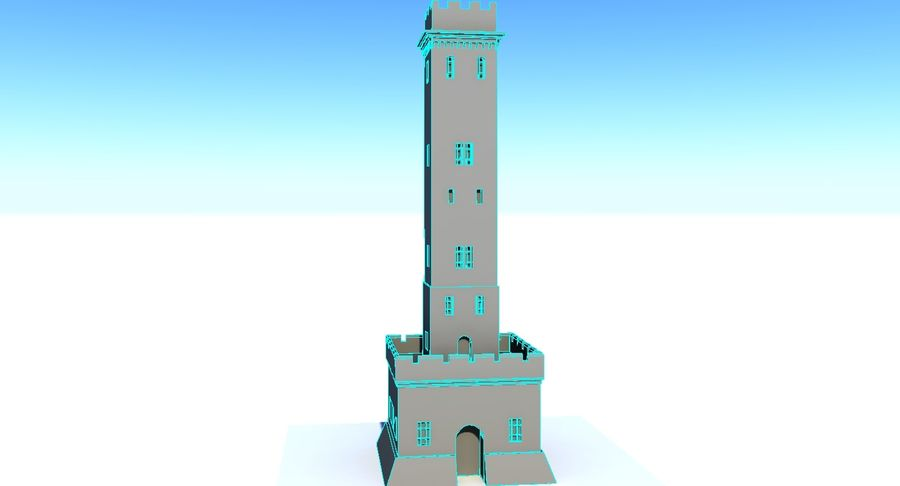 Torre do Castelo royalty-free 3d model - Preview no. 4