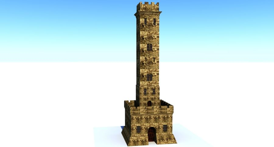 Torre do Castelo royalty-free 3d model - Preview no. 2