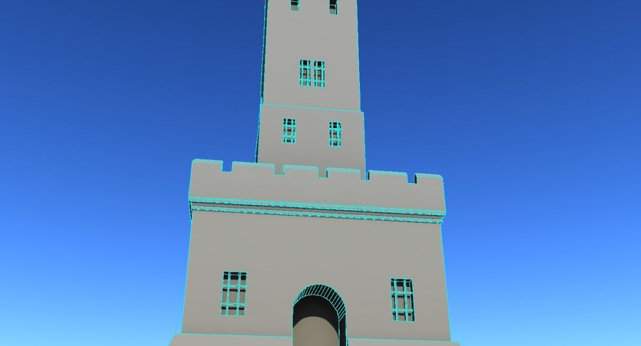 Torre do Castelo royalty-free 3d model - Preview no. 6