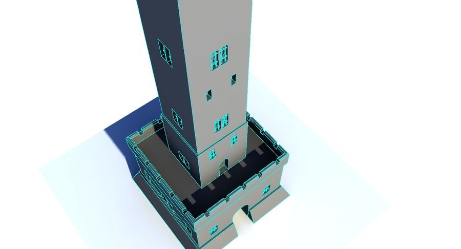 Torre do Castelo royalty-free 3d model - Preview no. 5