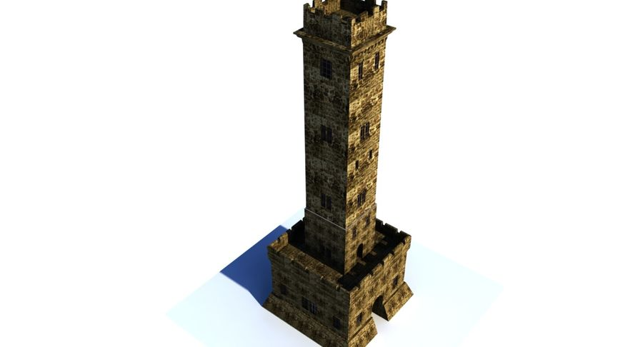 Torre do Castelo royalty-free 3d model - Preview no. 1